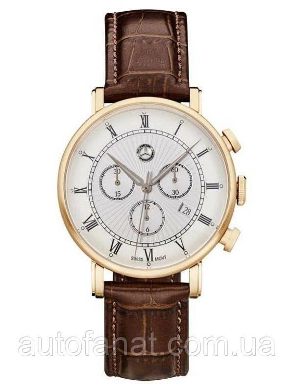 Оригинальные мужские наручные часы Mercedes-Benz Men's Chronograph Watch, Classic Retro Gold (B66041617)