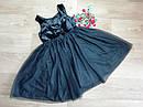 Нарядное плате с велюровым верхом и пышной блестящей фатиновой юбкой H&M (Англия) (Размер 9-10Т), фото 3