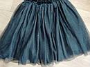 Нарядное плате с велюровым верхом и пышной блестящей фатиновой юбкой H&M (Англия) (Размер 9-10Т), фото 6