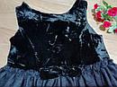 Нарядное плате с велюровым верхом и пышной блестящей фатиновой юбкой H&M (Англия) (Размер 9-10Т), фото 5