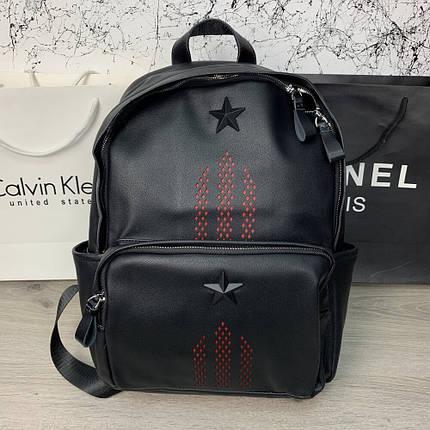 "Рюкзак Backpack Givenchy Stars 3 Black Stripes ""Чорний"", фото 2"