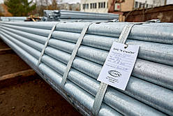Труба водогазопровідна оцинкована Ду 32х4.0 мм сталева ВГП