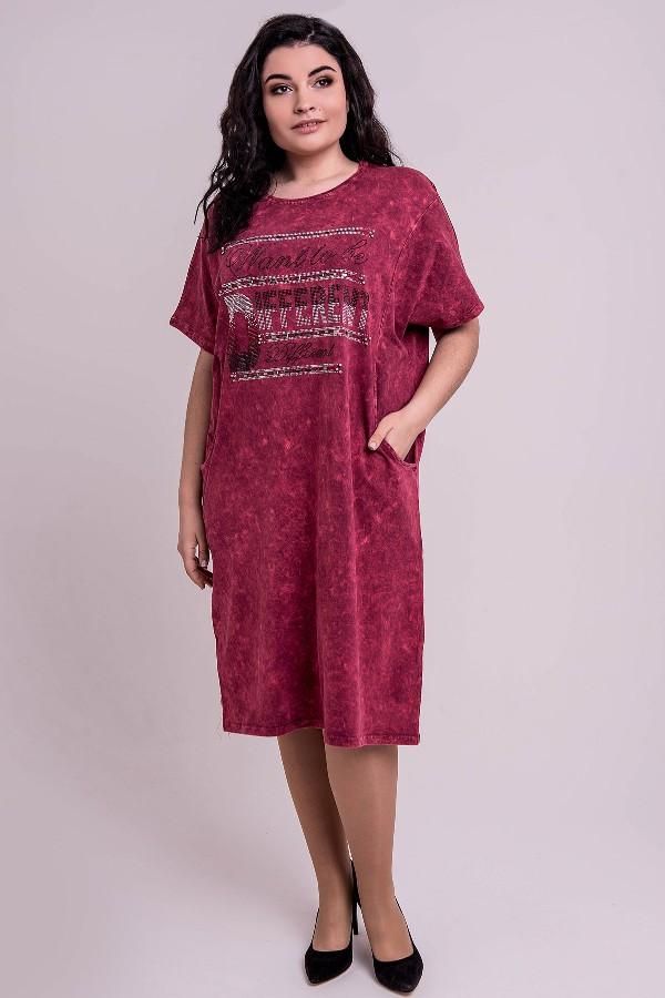 Платье Ильва (бордовый)(54-62)