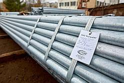 Труба водогазопроводная оцинкованная Ду 40х3.5 мм стальная ВГП