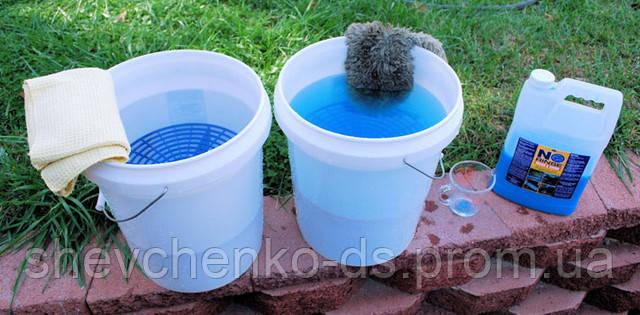 Двухведерный метод ручной мойки (Two bucket method)