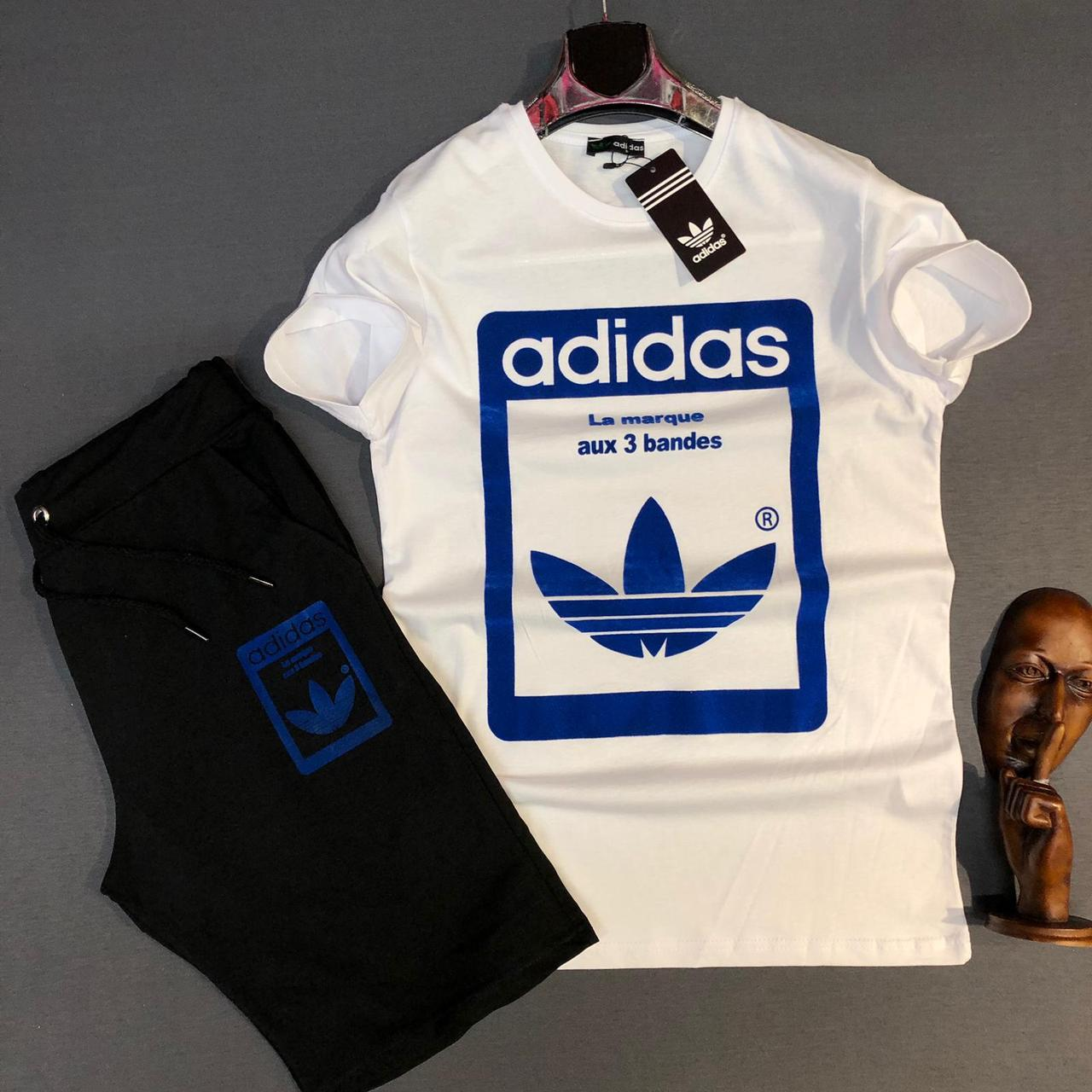 Мужской комплект шорты и футболка Adidas Accuracy