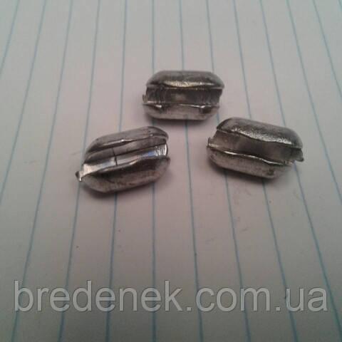 Грузило для оснастки сетевых изделий разрезной вес 15 г