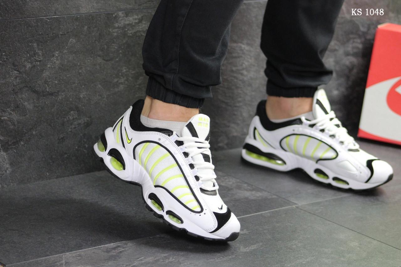 Мужские кроссовки Nike Air Max (бело-желтые)
