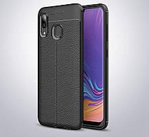 Чехол для Samsung Galaxy A30 2019 / A305 силикон Original Auto Focus Soft Touch черный