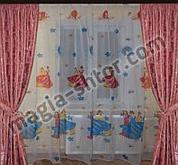 """Тюль в детскую """"принцессы"""", фото 1"""
