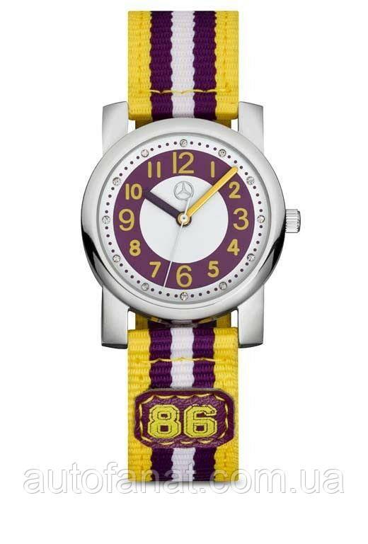 Оригинальные детские наручные часы Mercedes-Benz Boys' Watch, Purple/Yellow (B66958448)