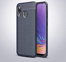 Чехол для Samsung Galaxy A30 2019 / A305 силикон Original Auto Focus Soft Touch темно-синий