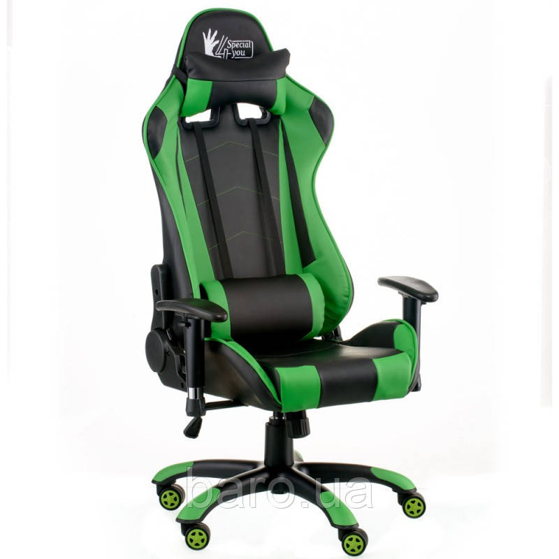 Кресло ExtremeRace black/green (E5623), Special4You