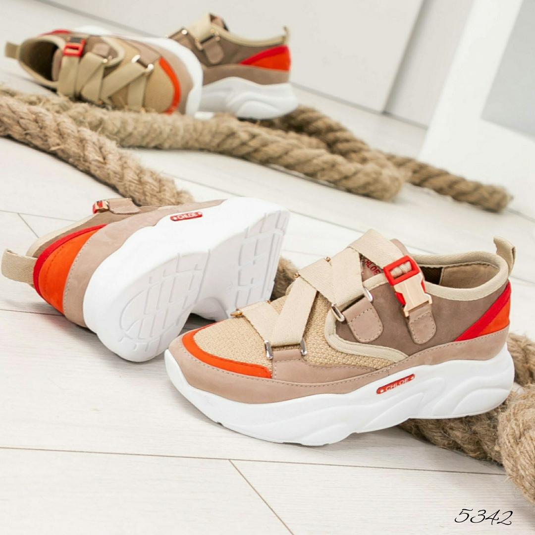 ac807ed9 Красивые бежевые кроссовки Chl@e, нат. нубук, Украина: продажа, цена ...
