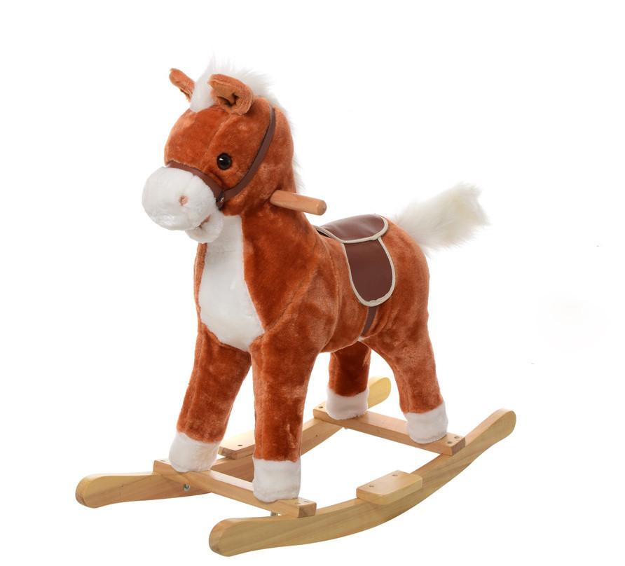 Качалка MP 0080 лошадка (Рыжий)