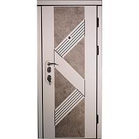 Входная дверь Very Dveri Верона Белая матовая с патиной + 3D вставка Базальт лофт (Акция) 950х2030