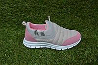 Детские кроссовки Callion серый розовый сетка 31 -35, копия