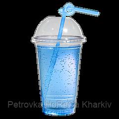 Пластиковые стаканы под купольную крышку 500мл 50шт (без крышки)