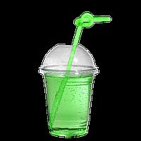"""Пластиковые стаканы под купольную крышку """"П"""" 300мл 50шт (без крышки)"""