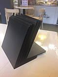Ценник меловой 6х9 см угловой L-образный для надписей мелом и маркером. Грифельный настольный ценник, фото 6