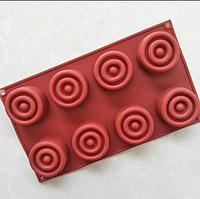 Силиконовая форма для десерта  8шт. на планшете, фото 1