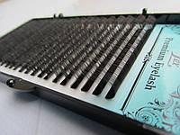 Ресницы черные Lex С 0.05 МИКС (8-12) Black matte
