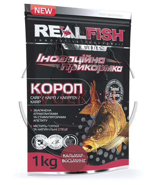 "Прикормка Real Fish ""Карп"" Кальмар-осьминог"