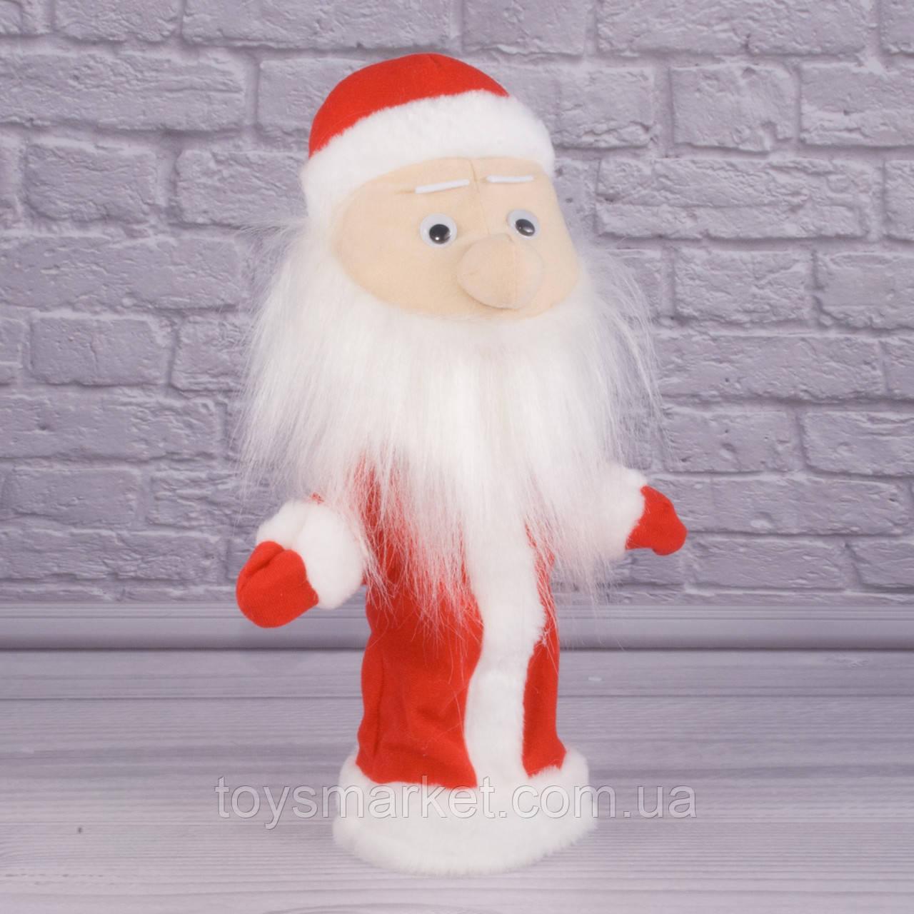 Игрушка рукавичка для кукольного театра Дед Мороз, кукла перчатка на руку