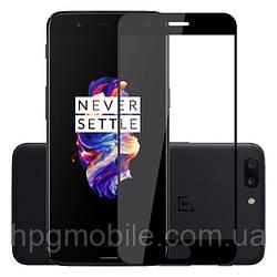 Защитное стекло 5D Full Glue на весь экран для OnePlus 5 (A5000), черный