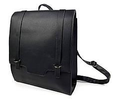 Женская удобная сумка портфель 2в1 формата А4,черного цвета Уценка