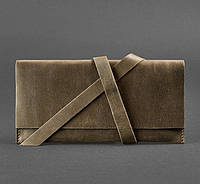 Кошелек кожаный для документов, дорожный кейс коричневый, фото 1
