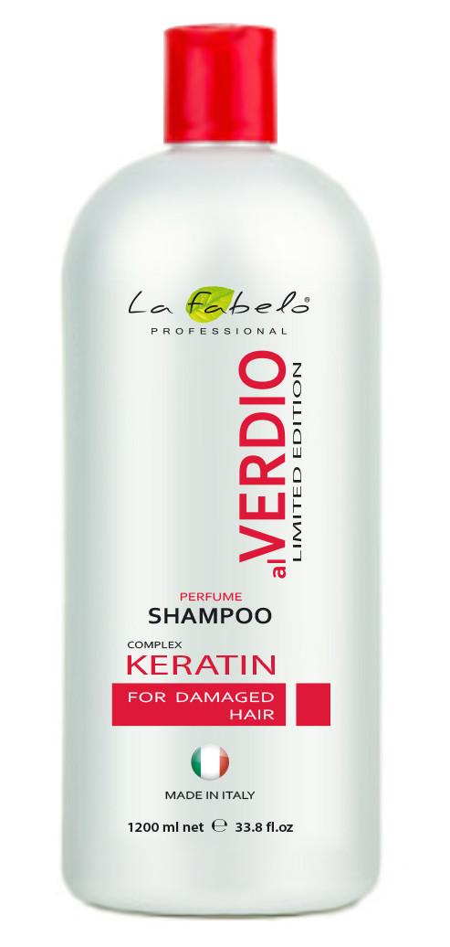 Парфюмированный шампунь alVerdio Keratin Complex La Fabelo1200мл