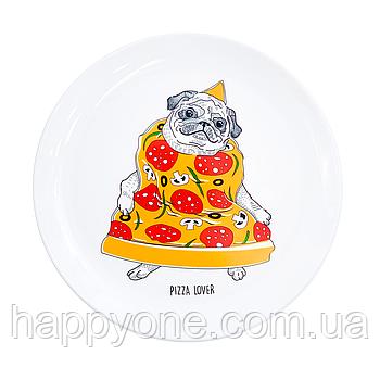 Тарелка «Пицца-мопс»
