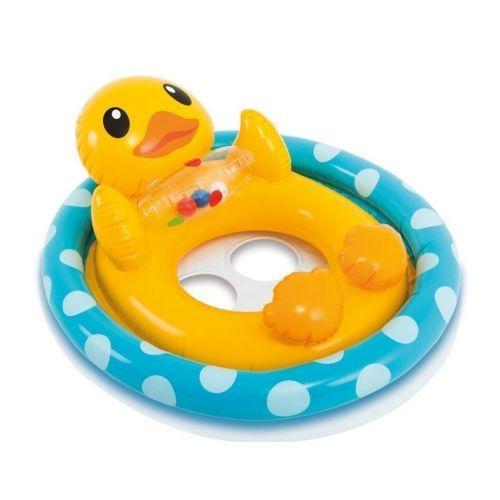 """Надувной круг-плотик детский для плавания """"Уточка"""""""
