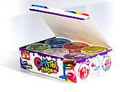 12 разноцветных прозрачных слаймов с конфетти Fiesta