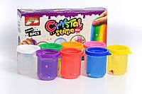 8 разноцветных прозрачных слаймов Zoo Party с конфетти в виде животных