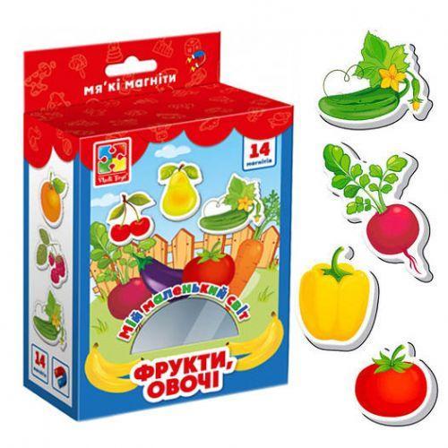 """Магниты """"Мой маленький мир: Овощи и фрукты"""" (укр)"""
