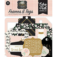 Висічки - Frames & Tags - Wedding Day - Echo Park - 33 шт.