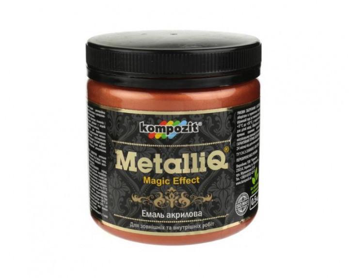 Декоративная акриловая эмаль Kompozit Metalliq 0.5кг (Медь)