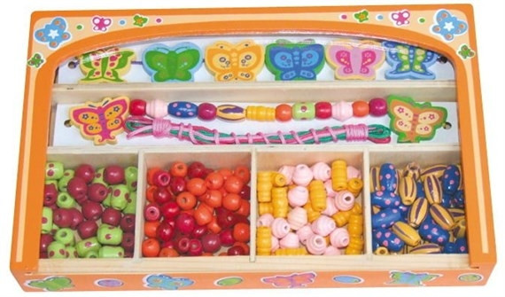 Набор бусинок для браслетов, Viga Toys 58550