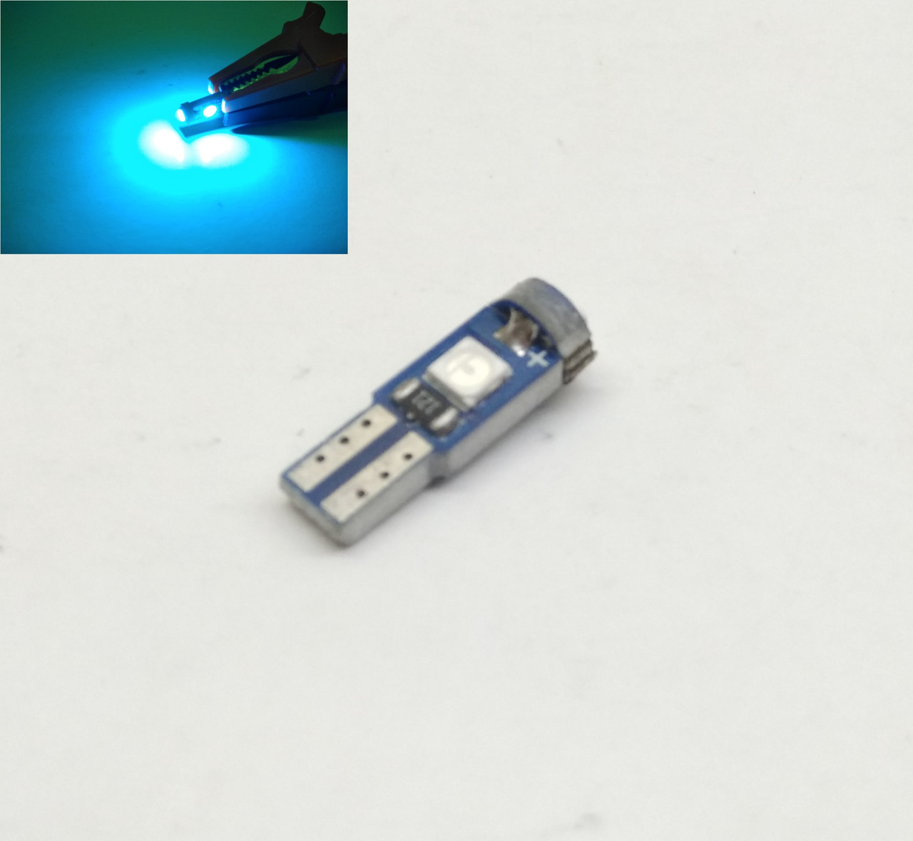 Автолампи LED T5, W1.2W, 3SMD, 3030, 12V, Ice Bluе