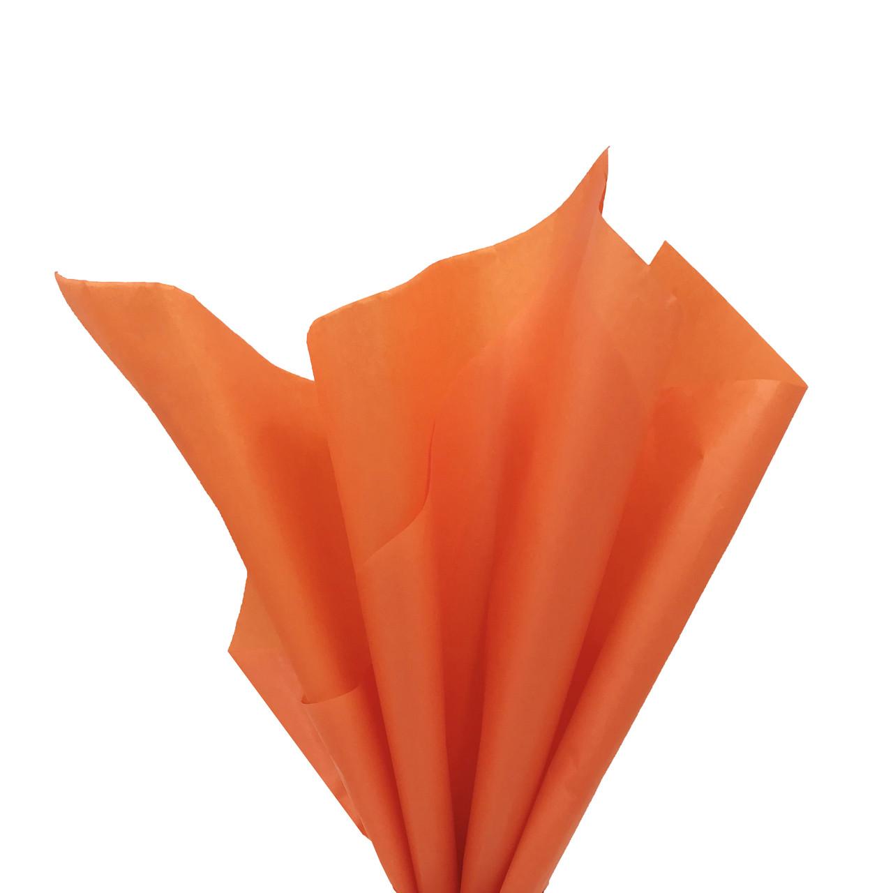 Бумага тишью 50 х 70 см оранжевая