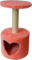 Домик когтеточка для кошек Амурчик розовый джут