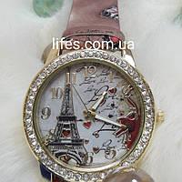 Женские часы: SUSENSTONE   Белый ремешок с цветочным принтом, фото 1