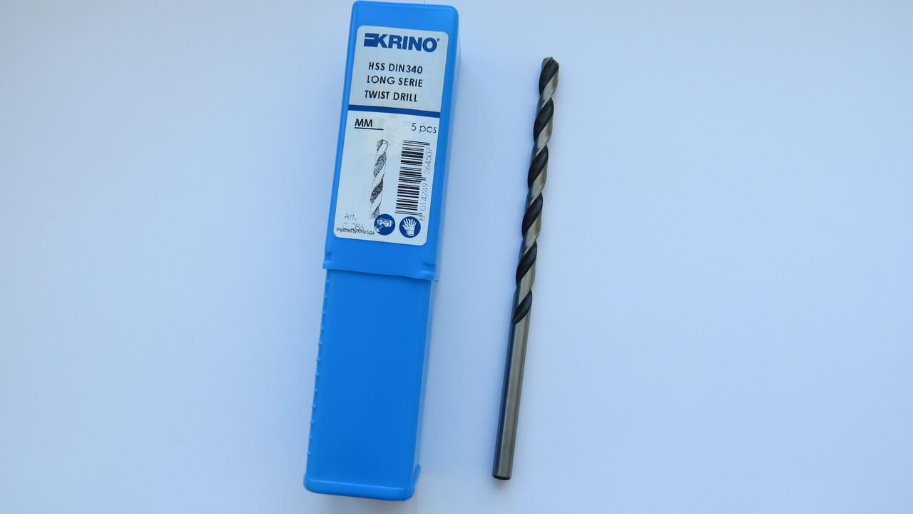 Свердло по металу Ø4 ц\х довга серія Р6М5 ГОСТ 886-77 DIN340 KRINO-01086 Італія