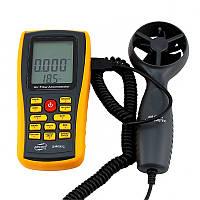 Анемометр Benetech GM8902 (0.3-45m/s; 0-45ºC; 0-999900m3/min), USB, Память 50