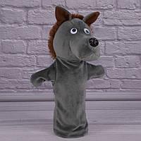 Игрушка рукавичка для кукольного театра Волк, кукла перчатка на руку