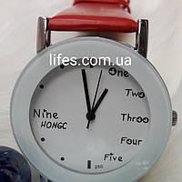 Женские часы NINE HONG Красные, фото 1