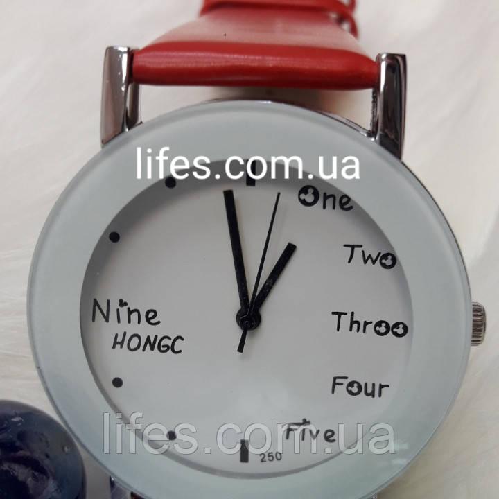 Женские часы NINE HONG Красные