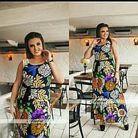 2f090f0c488 Женские летние сарафаны с цветочным принтом ткань